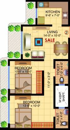 Shamiks Niramaya CHS Ltd (2BHK+2T (534.00 sq ft) Apartment 534 sq ft)