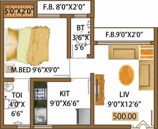Rashmi Smaart Homes Mira Road (1BHK+2T (500 sq ft) Apartment 500 sq ft)