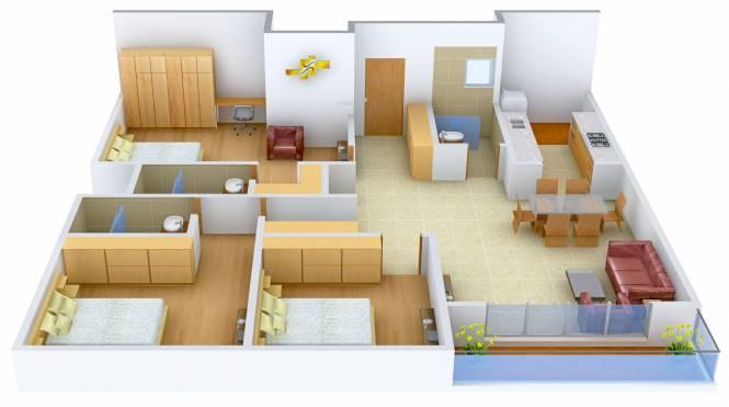 Valmark Aastha (3BHK+3T (1,805 sq ft) Apartment 1805 sq ft)
