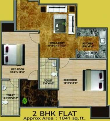 Jai Shree Balaji Infra Sukhdham Residency (2BHK+2T (1,041 sq ft) Apartment 1041 sq ft)