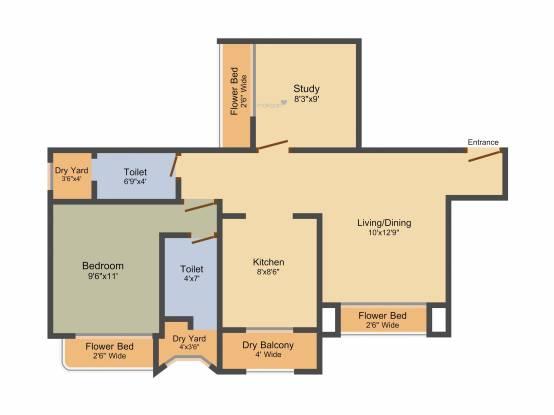Sadguru Paradise (2BHK+2T (920 sq ft) Apartment 920 sq ft)