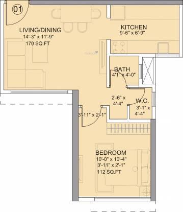 Runwal Bliss (1BHK+1T (650 sq ft) Apartment 650 sq ft)