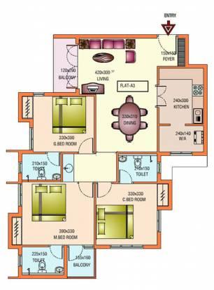 Infra Aspire (3BHK+3T (1,321 sq ft) Apartment 1321 sq ft)