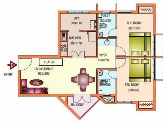 Infra Aspire (2BHK+2T (960 sq ft) Apartment 960 sq ft)