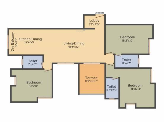 Gokhale Shree Padmavati (3BHK+3T (1,442 sq ft) Apartment 1442 sq ft)