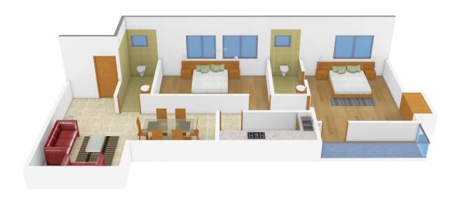 Anupam Mahesh Chandra Dutta Lane (2BHK+2T (985 sq ft) Apartment 985 sq ft)