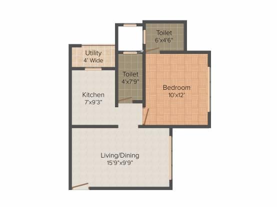 SMGK Associate Residency (1BHK+1T (660 sq ft) Apartment 660 sq ft)