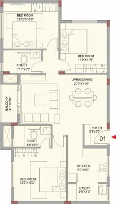 Vistara Sunningdale (3BHK+2T (1,427 sq ft) Apartment 1427 sq ft)