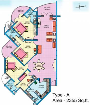Skyline Homestead (4BHK+3T (2,355 sq ft) Apartment 2355 sq ft)