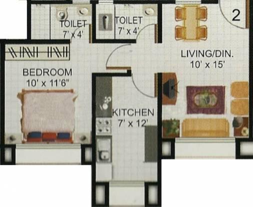 Akshay Sai Sadan (1BHK+2T (575 sq ft) Apartment 575 sq ft)