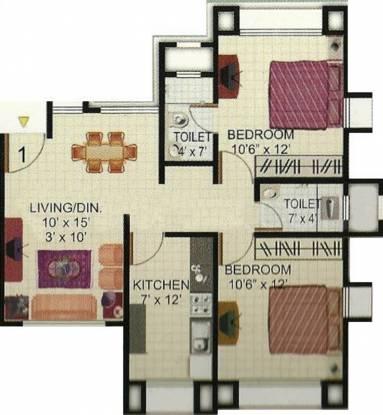 Akshay Sai Sadan (2BHK+2T (830 sq ft) Apartment 830 sq ft)
