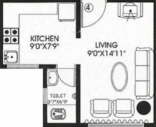 Akshay Sai Aishwarya (1BHK+1T (330 sq ft) Apartment 330 sq ft)