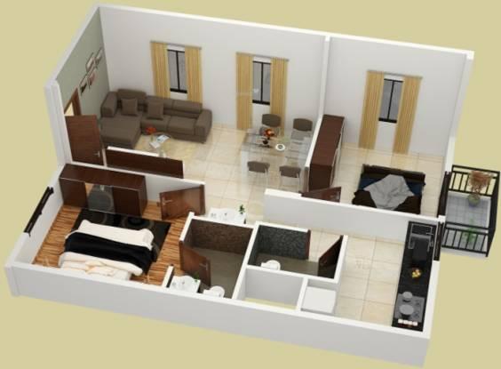 Prakruthi Akshara (2BHK+2T (800 sq ft) Apartment 800 sq ft)