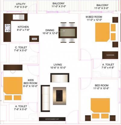 Longitude Upcoming Project At Jakkur (3BHK+3T (1,000 sq ft) Apartment 1000 sq ft)
