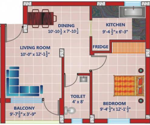 Rajul Nano Flats (1BHK+1T (464 sq ft) Apartment 464 sq ft)