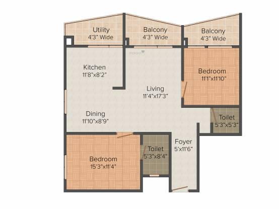 Thiru Thirumargadarshi Enclave (2BHK+2T (1,330 sq ft) Apartment 1330 sq ft)