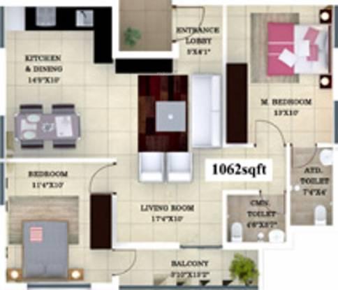 CC Aspire (2BHK+2T (1,062 sq ft) Apartment 1062 sq ft)