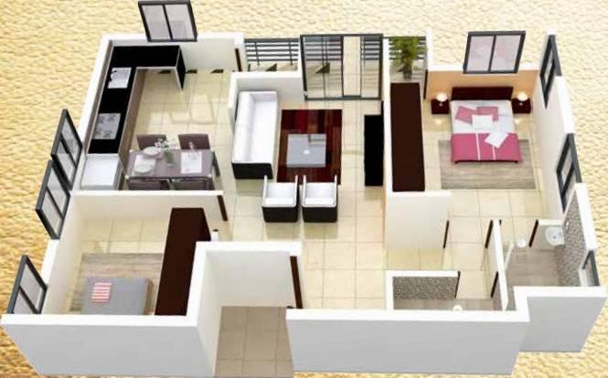 CC Aspire (2BHK+2T (1,114 sq ft) Apartment 1114 sq ft)