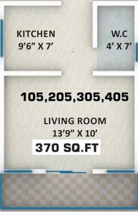 Swaraa Malhar City (1RK+1T (370 sq ft) Apartment 370 sq ft)