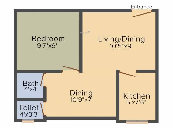Kolkata Ira Paradise Apartment (1BHK+1T (370 sq ft) Apartment 370 sq ft)