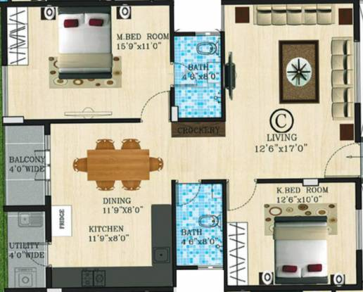 Shyam Gokul (2BHK+2T (1,122 sq ft) Apartment 1122 sq ft)