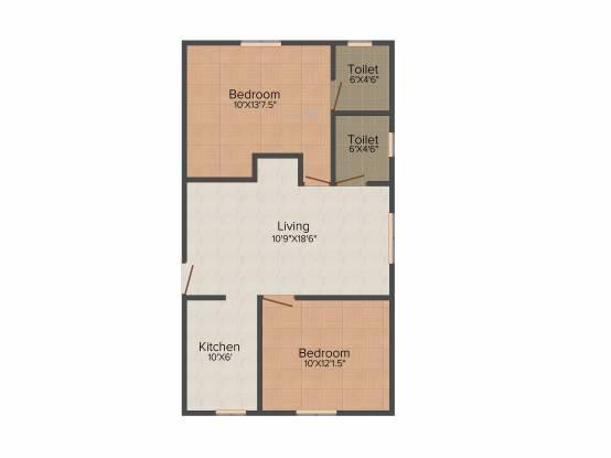 VR Signet (2BHK+2T (1,040 sq ft) Apartment 1040 sq ft)