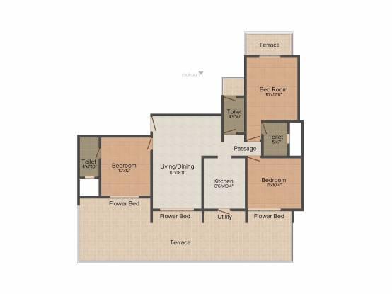 VR Signet (3BHK+3T (1,655 sq ft) Apartment 1655 sq ft)