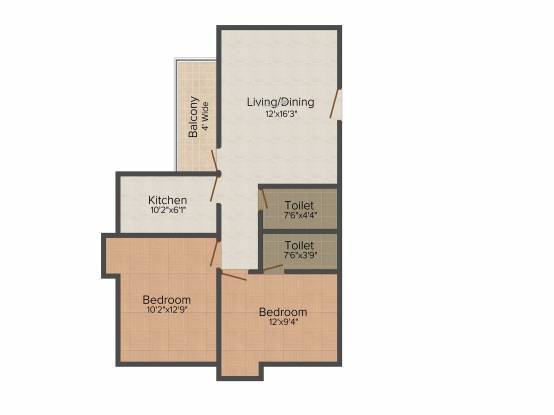 Eastern Eastern Height (2BHK+2T (1,094 sq ft) Apartment 1094 sq ft)