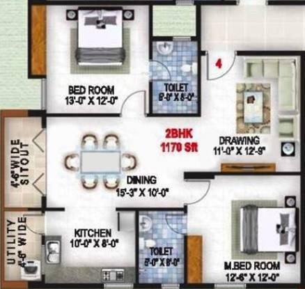 Sri Sai Builders Horamavu Bangalore Sri Sai Jingle Heights (2BHK+2T (1,170 sq ft) Apartment 1170 sq ft)