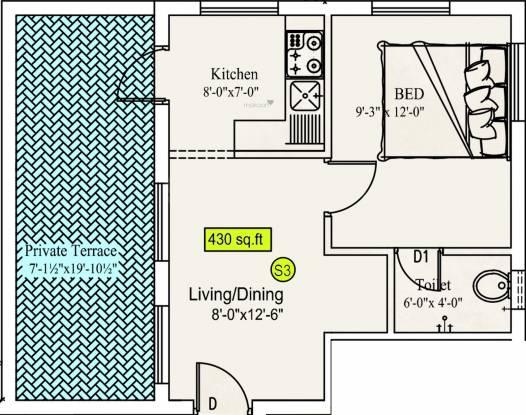 Sekaran Studio 6 Apartment (1BHK+1T (430 sq ft) Apartment 430 sq ft)