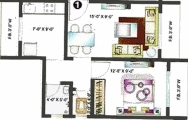 Shubham Karoti Complex (1BHK+1T (675 sq ft) Apartment 675 sq ft)