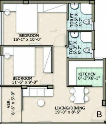 Rohra Address (2BHK+2T (917 sq ft) Apartment 917 sq ft)