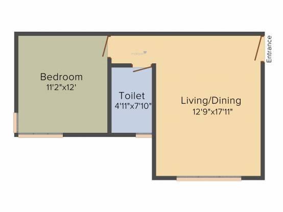 Advantage Pebble Bay At Koramangala (1BHK+1T ( 617 sq ft) Apartment 617 sq ft)