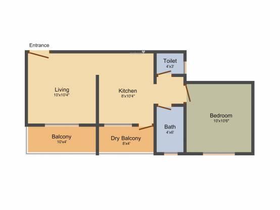 Yura Icchapurti Complex (1BHK+1T (533 sq ft) Apartment 533 sq ft)