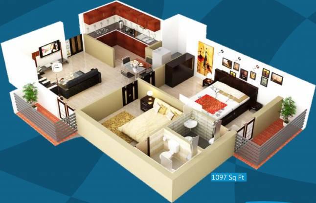 Orange Samta Enclave (2BHK+2T (1,097 sq ft) Apartment 1097 sq ft)