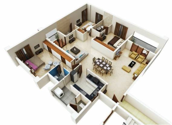 Tulive Forest Wood (3BHK+3T (2,164 sq ft) Apartment 2164 sq ft)