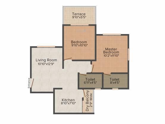 Prakalpa Swapna Tirtha (2BHK+2T (850 sq ft) Apartment 850 sq ft)