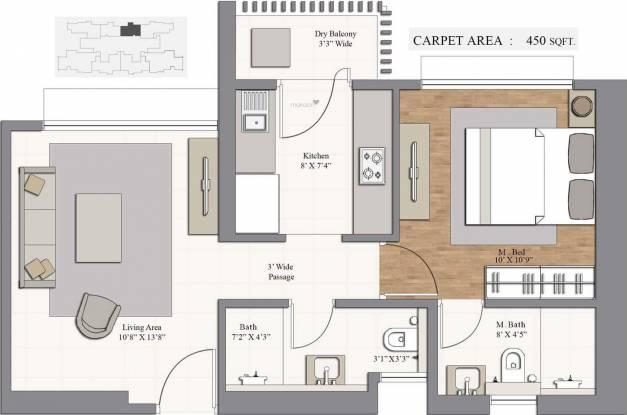 Piramal Revanta (1BHK+2T (743 sq ft) Apartment 743 sq ft)