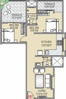 Acumen Prerana (2BHK+2T (860 sq ft) Apartment 860 sq ft)