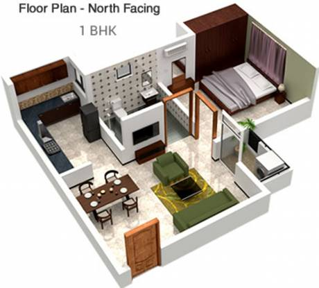 Town Tech City (1BHK+1T (408 sq ft) Apartment 408 sq ft)