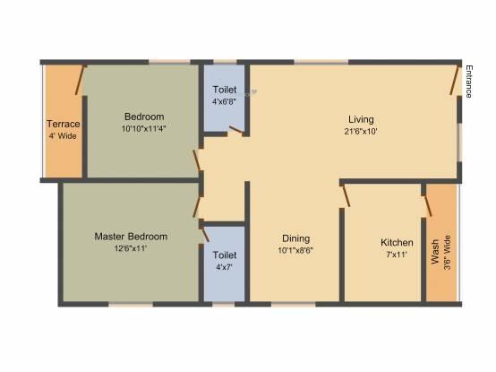 Avani Asteya (2BHK+2T (1,205 sq ft) Apartment 1205 sq ft)