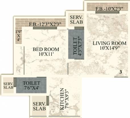JVM Orchid (1BHK+2T (373.29 sq ft) Apartment 373.29 sq ft)