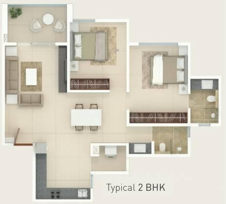 Rohan Rohan Madhuban II Wings A B C (2BHK+2T (597.72 sq ft) Apartment 597.72 sq ft)