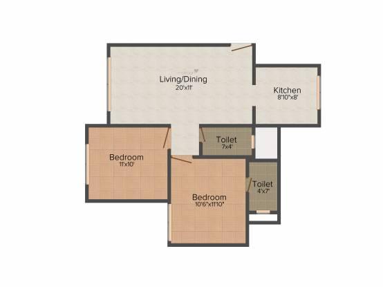 Spark Mogra Vikas (2BHK+2T (618 sq ft) Apartment 618 sq ft)