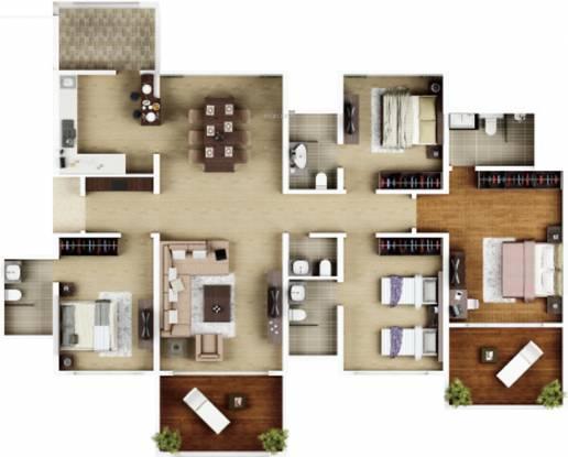 Kasturi Epitome Phase I (4BHK+5T (1,359.91 sq ft) Apartment 1359.91 sq ft)