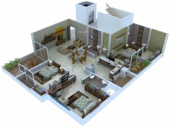 Abhijit Jayanti Nagari VI (3BHK+3T (839.47 sq ft) Apartment 839.47 sq ft)