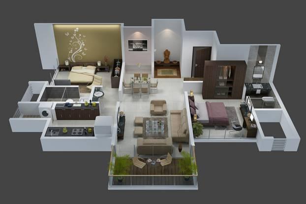 Goel Ganga Ganga Florentina Ph I (2BHK+2T (667.36 sq ft) Apartment 667.36 sq ft)