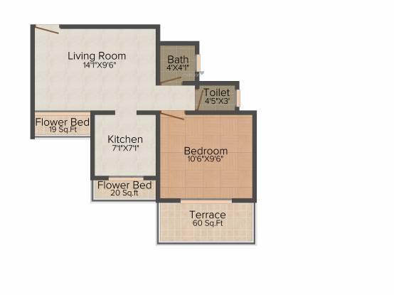 Geomatrix Geomatrix Silver Crest (1BHK+1T (376.41 sq ft) Apartment 376.41 sq ft)