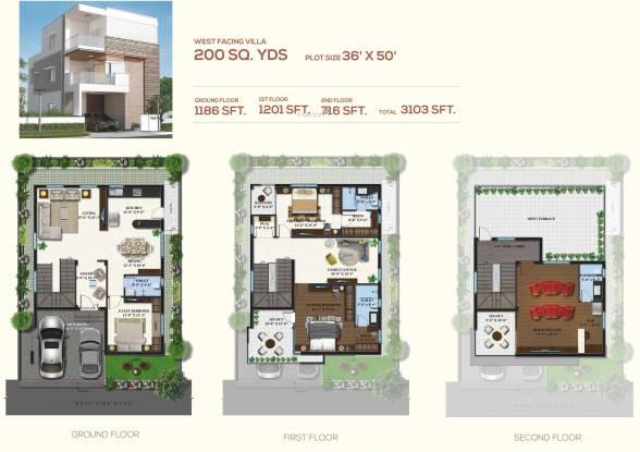 Magna Majestic Meadows (3BHK+4T (3,103 sq ft) + Pooja Room Villa 3103 sq ft)
