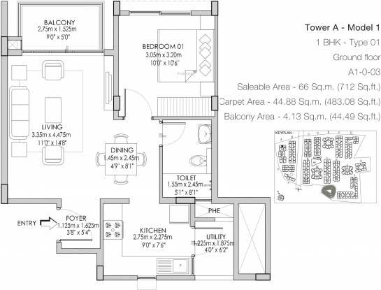 Godrej Life Plus (1BHK+1T (712 sq ft) Apartment 712 sq ft)